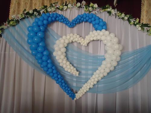 Свадебное сердце в зал своими руками 56